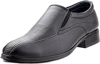 Zebra Men's Slipon 100% Pure Pu Leather Black Shoes.