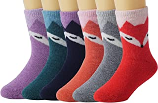 La Volupte 6 Pairs Kids Baby Boy Girl Soft Thick Winter Warm Socks Children Crew Socks