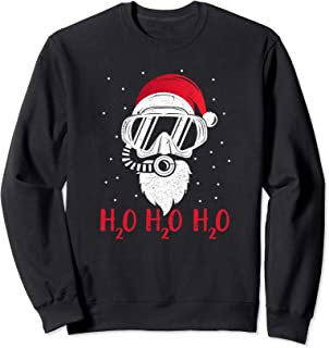 Diving Santa H2O H2O H2O funny Christmas Dive Sweatshirt