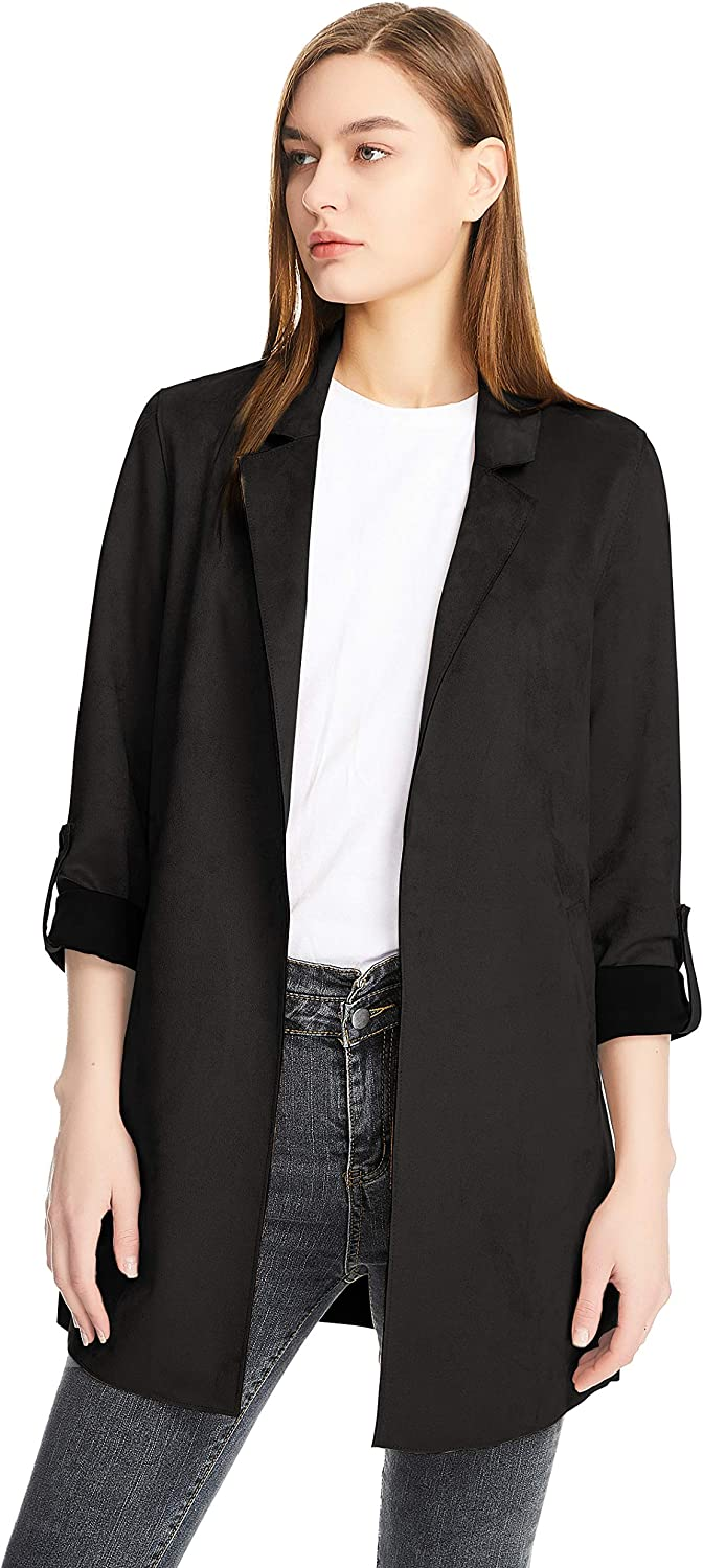 Women Slim fit Trench Coat Casual Denver Mall 3 Open Sue 4 Faux Front Sleeve Over item handling