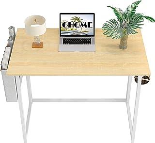 "GHQME Folding Desk 31.5"" with Storage Bag Laptop Desk Home Office Desk Study Writing Desk No-Assembly Small Space (Natural..."