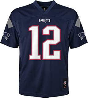 Outerstuff Tom Brady New England Patriots NFL Youth Navy Home Mid-Tier Jersey (Youth Medium 10-12)