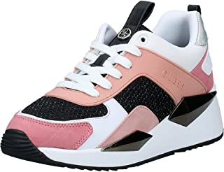 GUESS Typical4 Women's Athletic & Outdoor Shoes, Pink (Pink/Multicolor Fabric PIMFB), 37.5 EU