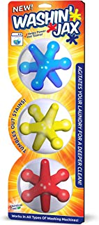 Washin' Jax Laundry Agitators | Chemical Free, Silicone Based Jax Enhance Cleaning Power of Your Washes | Unique Shape All...