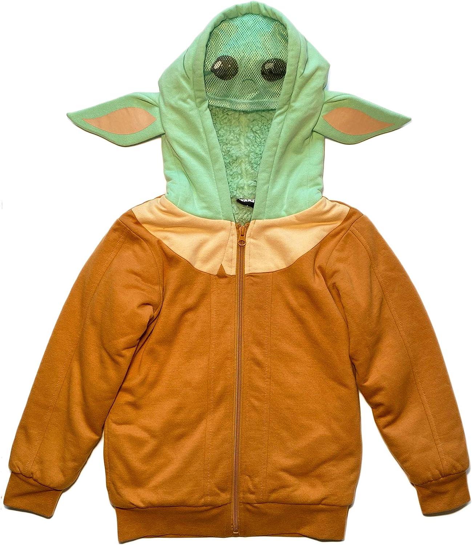 Star specialty shop Wars El Paso Mall Boys Mandalorian The Fleece Sherpa Hoodie Child