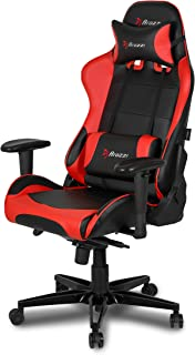 Arozzi Verona XL+ Extra-Wide Premium Racing Style Gaming Chair with High Backrest, Recliner, Swivel, Tilt, Rocker and Seat Height Adjustment, Lumbar and Headrest Pillows Included - Red