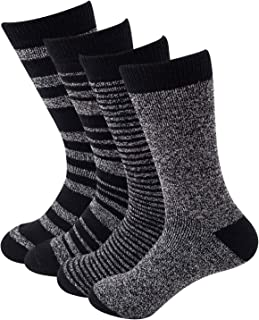 Sock Amazing Stylish Men's 4 Pairs Thermal Socks for Winter Extreme Cold Weather Thick Crew Boot Socks