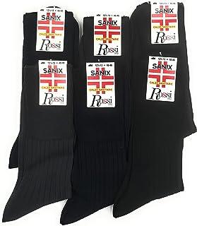 Calcetín corto rojo hombre sanitario hilo Escocia 6 pares Art 2000