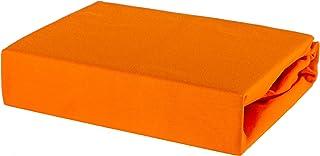 Drap housse 100 % jersey de coton – 80/200 80 x 200 cm, Orange, 80 x 160 cm