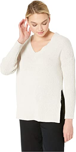 Getting Warmer V-Neck Wide Ribbed Sweater