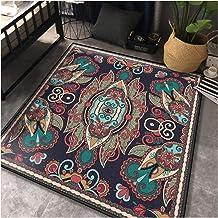 Retro Square Carpet,Children Crawling Blanket,Anti-Slip Foot Pad,Foldable/Easy Clean Rugs,Bedroom/Sofa/Living Room/Coffee ...