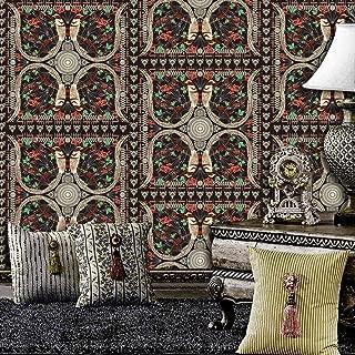 8104 Geometric Pattern Birds Wallpaper Floral Bouquet Wallpaper Home Room Wall Decoration 20.8