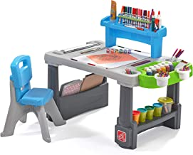 Step2 Deluxe Creative Projects Art Desk, Gray & Blue