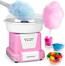 Nostalgia PCM805PNK Retro Hard Free Countertop Original Cotton Candy Maker, Includes 2..