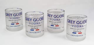 Handmade Grey Goose Vodka Upcycled Shot Glass Set of 4