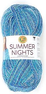 Lion Brand Yarn 511-300 Summer Nights Yarn, One Size, Cast Away