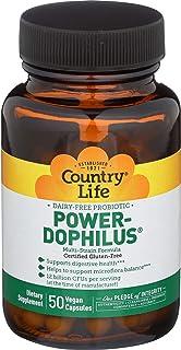Country Life - Power-Dophilus Dairy-Free Probiotic, 12 Billion CFU's - 50 Vegan Capsules