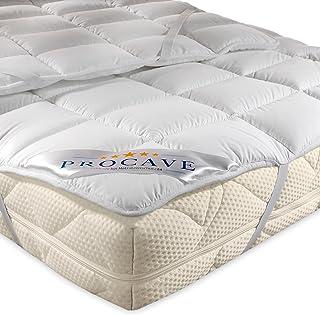 PROCAVE Micro Confort Protector colchón en Varios tamaños, Made in Germany, Funda colchón de Microfibra y poliéster, Soft Touch, Válido para Camas de Agua y Box Spring, 150x190cm