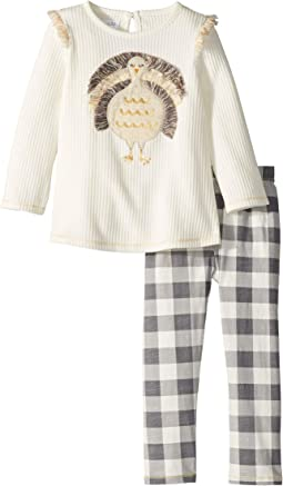 Thanksgiving Turkey Long Sleeve Tunic & Legging Two-Piece Set (Toddler)