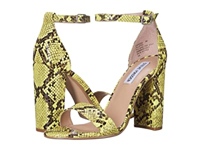 Steve Madden Carrson Heeled Sandal (Yellow Snake) High Heels