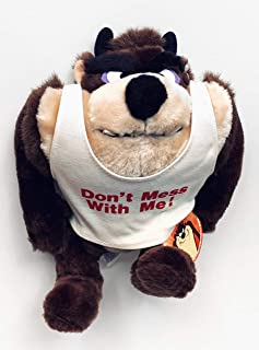 """LOONEY TUNES Warner Brother Taz Tasmanian Devil 9"""" """"Don't Mess with Me Plush"""