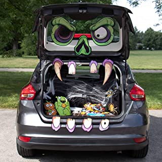 Mad Monster Face Trunk or Treat Halloween Car Decoration - Large, Scary Zombie Haunted House Home Decor & Funny Outdoor Pa...
