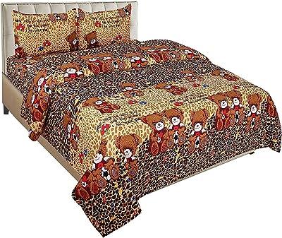 ZATCHBELL Cotton 144 TC Bedsheet (Multicolour_Double)