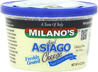 Milano's Asiago Cheese Deli Cup, Grated, 8 Ounce