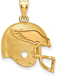 philadelphia eagles gold pendant