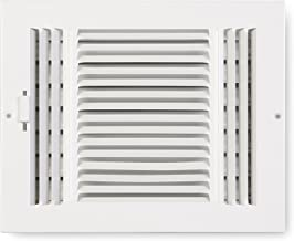Accord ABSWWH384 Sidewall/Ceiling Register with 3-Way Design, 8-Inch x 4-Inch(Duct Opening Measurements), White