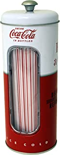The Tin Box Company 771587-12 Coca Cola Holder with 50 Straws
