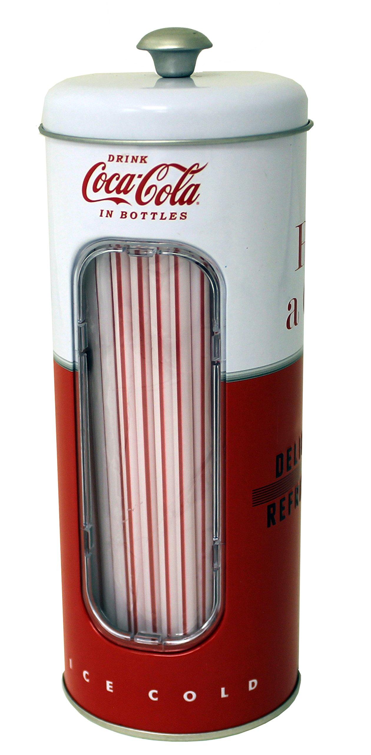Bote met/álico con 50 Pajitas CocaCola