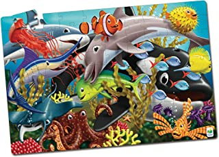 The Learning Journey Glow In The Dark Sea Life Floor Puzzle - 3 Years and Above