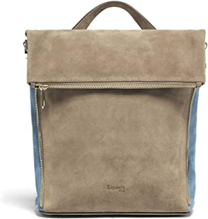Lipault - Rendez-Vous Leather Backpack - Small Shoulder Purse Bag for Women - Black, Dark Taupe/Icy Blue (Multicoloured) - 126029-8200