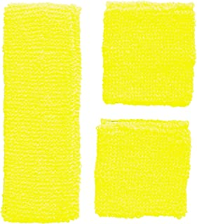 Widmann Widmann 05835 - Neon Schweißbänder, Stirnband und 2 Armbänder, gelb, 80er Jahre, Kleidungszubehör, Retro Style, Sport- und Fanwelt, Disco, Motto Party, Karneval