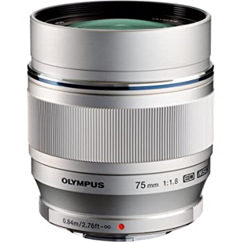Olympus M.ZUIKO DIGITAL ED 75mm f1.8 (Silver) Lens for Olympus and Panasonic Micro 4/3 Cameras  - International Version (No Warranty)