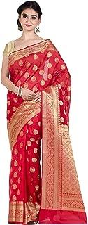 red colour jamdani saree
