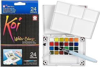 Sakura XNCW-24N, 24 Assorted Watercolors Field Sketch Set with Brush