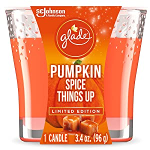 Glade Candle Jar, Air Freshener, Pumpkin Spice Things Up, 3.4 Oz