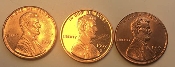 1997 PDS Lincoln Cents Penny AU-Proof
