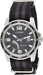 Citizen Mens Solar Powered Watch, Analog Display and Textile Strap AW7030-06E