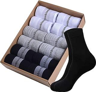 Tonbionvis 靴下 メンズ ソックス メンズ リブソックス 銀イオン 抗菌防臭 吸汗速乾 くつした 通気性抜群 ビジネスソックス 男女兼用 24-28㎝
