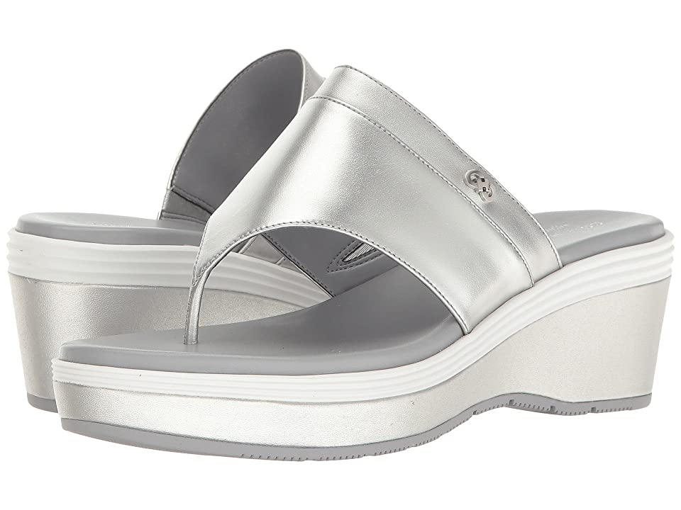 Cole Haan Cecily Grand Thong (Downtown Silver Leather/Sleet/Optic White/Downtown Silver) Women