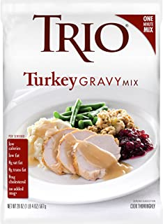 Trio Turkey Gravy Mix, Holiday Roast, Dehydrated, Just Add Water, 20 oz Bag