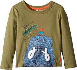 Applique Long Sleeve Tee (Toddler/Little Kids)