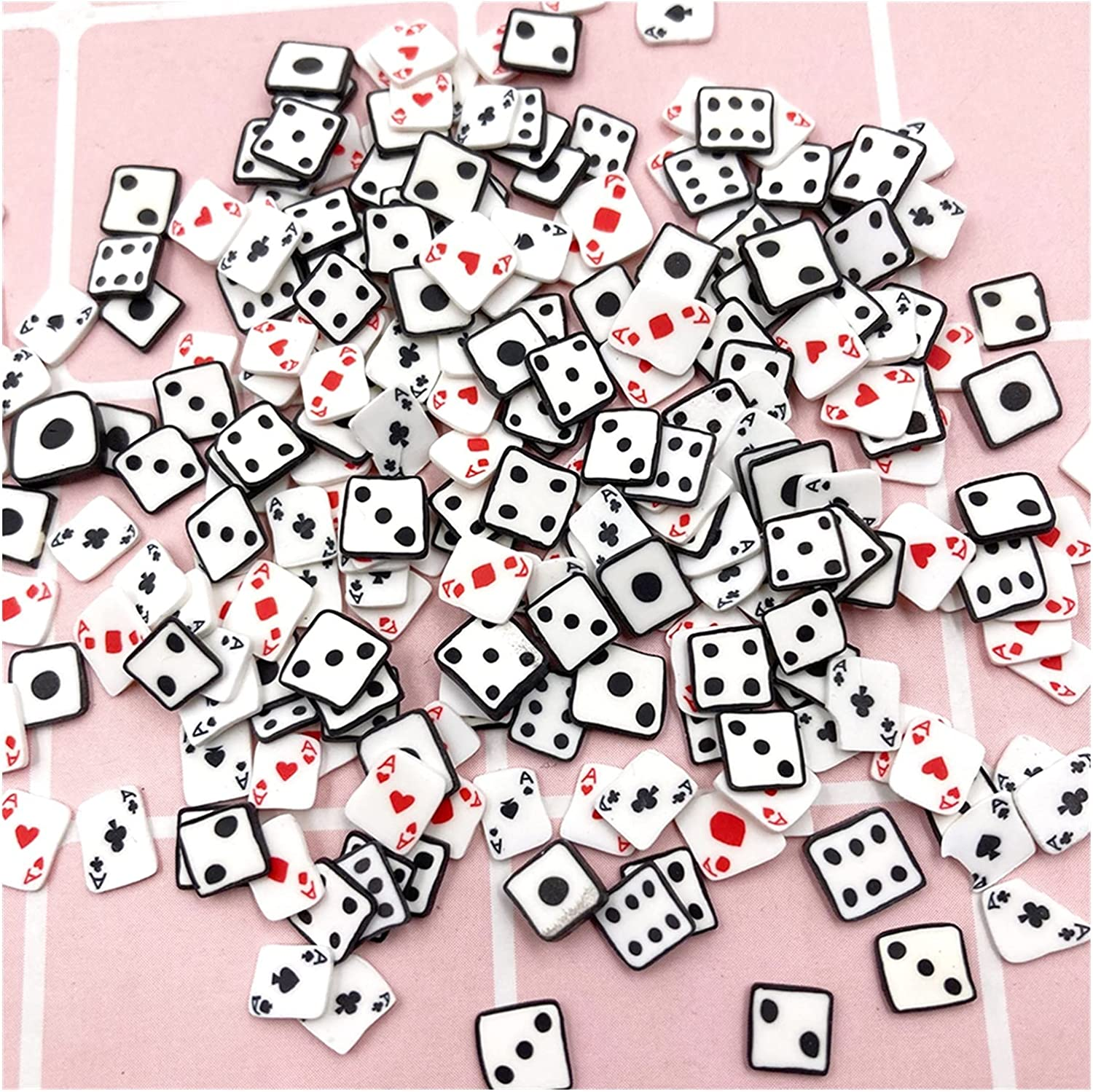 WEIMEIDA MJZS911 Max 82% OFF 50g 5mm Polymer Slice Inventory cleanup selling sale Poker Sprinkles Clay Dice