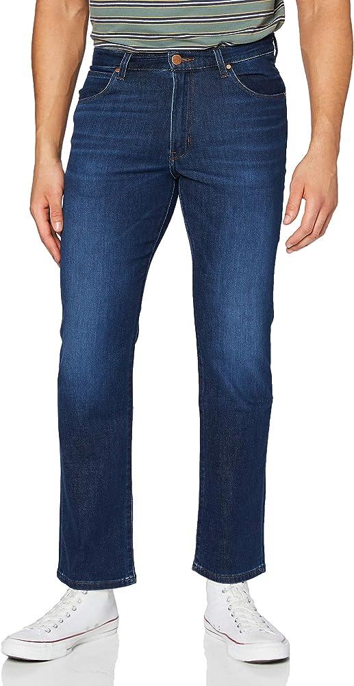 Wrangler arizona, jeans per uomo,55% cotone, 32% poliestere, 11% poliammide, 2% W12OAO68N