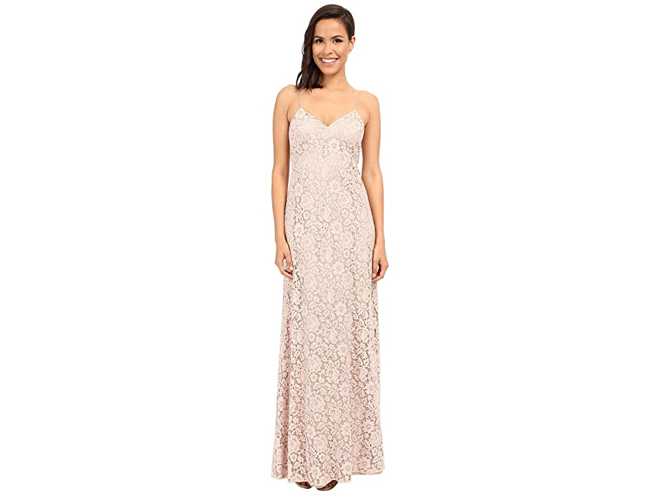 Donna Morgan Gia Spaghetti Strap Slip Dress (Pearl Pink) Women