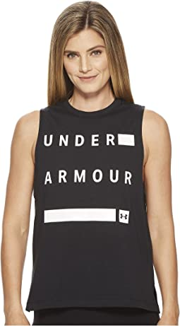 Under Armour - Linear Wordmark Muscle Tank Top