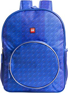 LEGO Classic Blue Brick Backpack - Lego Backpack with Zippered Front Pocket (Blue)